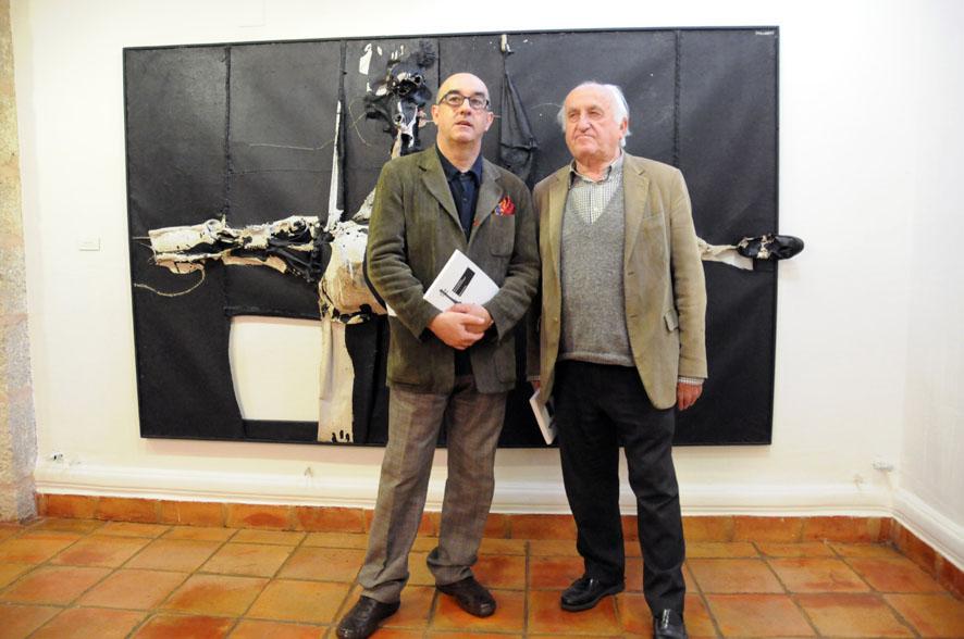 Manolo Millares vuelve a Cuenca. Presentación del libro de Alfonso de la Torre en la Fundación Antonio Pérez